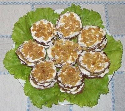 Печеночные тортики маленькие рецепт