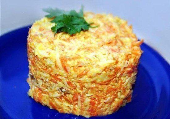 Морковный салат с чесноком рецепт с фото